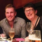 Aaron Finch with his mother