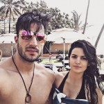 Aly  Goni with Natasa Stankovic
