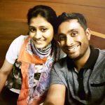 Chennupalli Vidya with her husband Ambati Rayudu