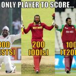 Chris Gayle's century record