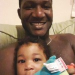 Darren Sammy with his daughter