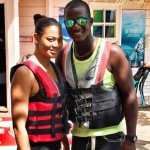 Darren Sammy with his wife