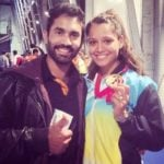 Dinesh Karthik with his wife Dipika Pallikal