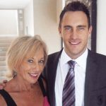 Faf du Plessis with his mother