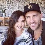 Faf du Plessis with his wife