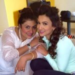 Gauhar Khan with her eldest sister, Kausar Khan
