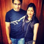 Iqbal Khan with his wife, Sneha Chhabra