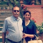 Kavita Kaushik with her father