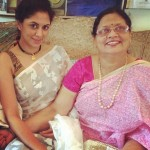 Kavita Kaushik with her mother