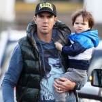 Kevin Pietersen with his son