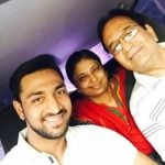Krunal Pandya with his parents