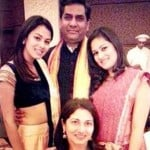 Mira Rajput with her family