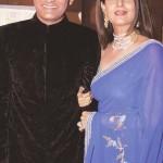 Mohammad Azharuddin with his second wife Sangeeta Bijlani