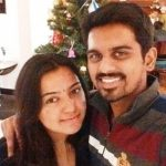Murugan Ashwin with his wife