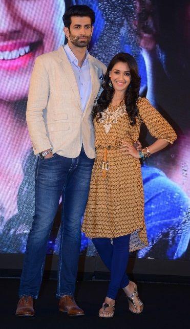 """Namik Paul and Nikita Dutta at the Launch of their serial """"Ek Duje Ke Liye"""""""