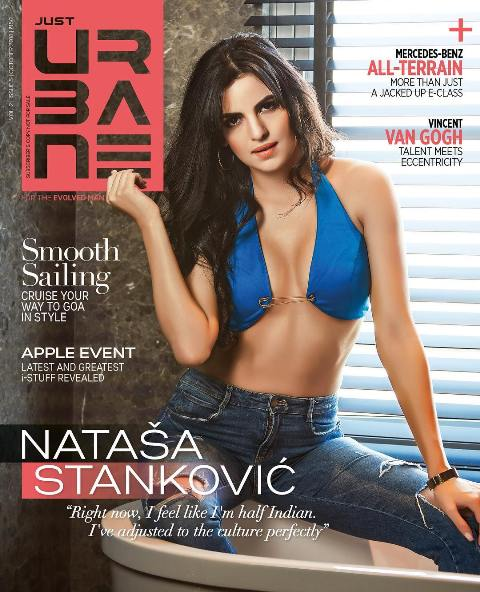 Natasa Stankovic on the cover of Just Urbane Magazine