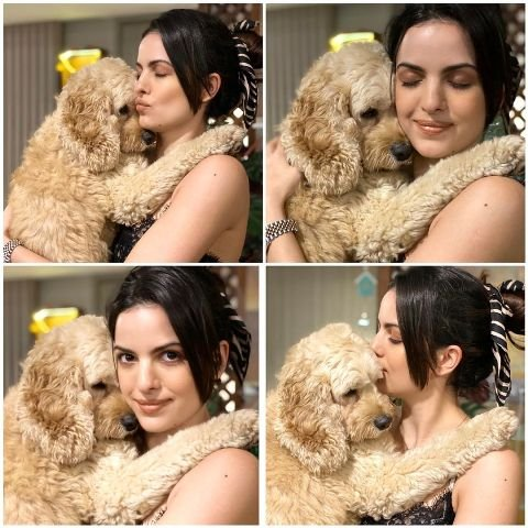Natasa Stankovic with her pet dog
