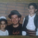 Natasa Stankovic with her father and brother (childhood photo)