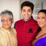 Ruslaan Mumtaz with his parents