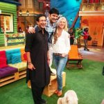 Shaniera Thompson and Wasim Akram in The Kapil Sharma Show