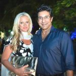 Shaniera Thompson with her husband Wasim Akram
