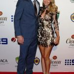 Shaun Marsh with his wife