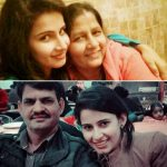 Shivani Tomar with her parents