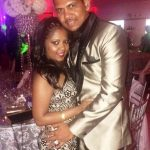 Sunil Narine with his wife Nandita Kumar
