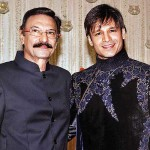 Vivek Oberoi with his father Suresh Oberoi