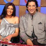 Wasim Akram with Sushmita Sen