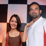 Zaheer Khan with Isha Sharvani