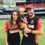 Danielle Swart with her husband and son