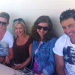Adam Zampa with his family