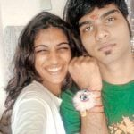 Anushka Manchanda with her brother