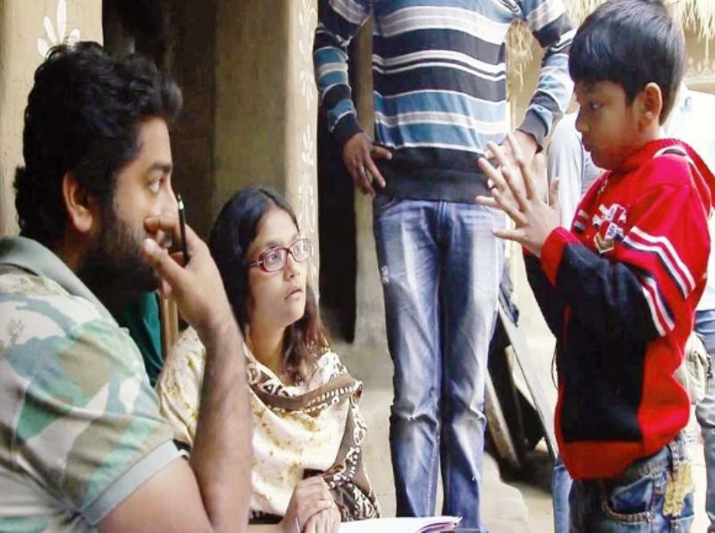 Arijit Singh With His Son Jul On The Set Of Sa