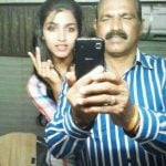 Dhansika with her father