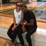 Dwayne Bravo with his girlfriend Regina Ramjit