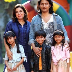 Farah Khan with her Husband and children