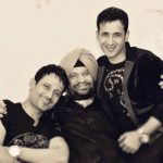 Harmeet Singh with his father and brother