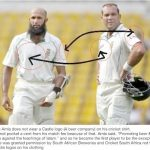 Hashim Amla jersey without Castle logo