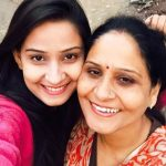 Ishani Sharma with her mother