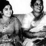 Jayalalithaa with her mother