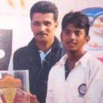 KL Rahul childhood pic with his coach Samuel Jayaraj