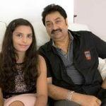 Kumar Sanu with daughter Shannon K