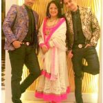 Manmeet Singh with his mother and brother