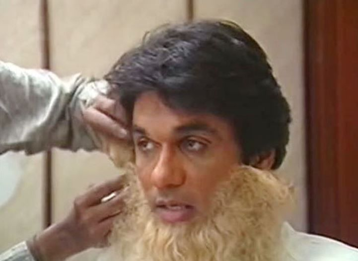 Mukesh Khanna getting ready as Bhishma Pitamah