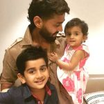 Murali Vijay with his children