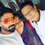 Murali Vijay with his parents