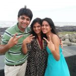 Nia Sharma with her mother, Usha and brother, Vinay