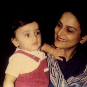 Nikitin Dheer (Childhood) with his mother Anita Dheer